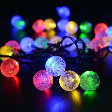 Blue Led String Lights by Amazon Com Ledertek Solar Outdoor String Lights 19 7ft 30 Led