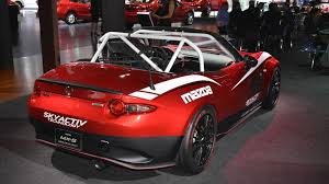 mazda mx series mazda mx 5 shows its racing ambitions in los angeles