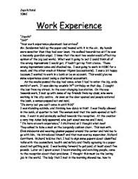 Work experience essay   Writing types