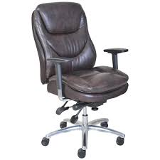Brown Leather Task Chair Serta At Home 45635 600 Series Task Puresoft Faux Leather Chair In