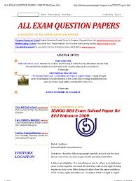 all exam question papers ignou bed exam solved paper for bed