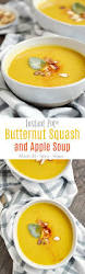 instant pot butternut squash and apple soup cooking with curls