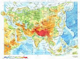 Map Of Asia by Large Detailed Physical Map Of Asia In Russian Asia Large