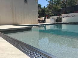 aluminium poli miroir bordure de piscine pliage service