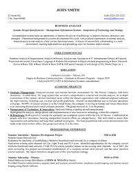 Resume Examples  Business Analyst Resume Objective Examples