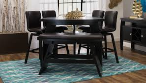 triangle bar height dining table home zone furniture dining room