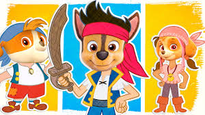 paw patrol jack and pirates coloring pages coloring videos for