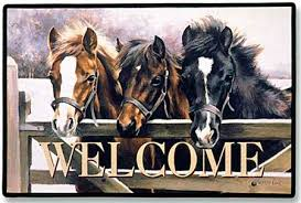 Horses Welcome Mat Item #D11
