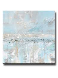 abstract home decor original art abstract painting blue grey textured coastal wall