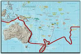 Map of Tasman's Route