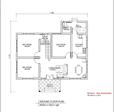 Home Floor Plan Layout Interesting Simple House Floor Plan With Dimensions Related Inside