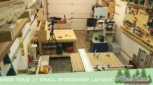 shop tour small woodshop layout youtube