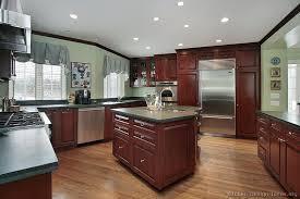 Black Kitchen Designs Photos Traditional Dark Wood Cherry Kitchen Cabinets 53 Kitchen Design