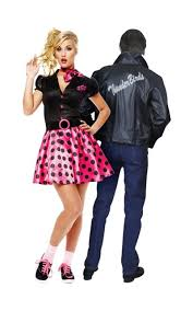 50s Halloween Costume Ideas Sock Hop 50 U0027s 50 U0027s Thunderbird Jacket Couples Costumes Party