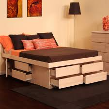 queen bed platform with drawers how to build bed platform with