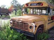 This is what some of you will think a School Bus looks like when someone lives in it