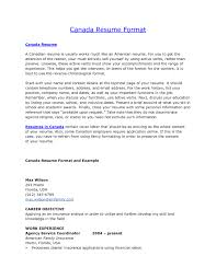 Sample Resume Format Usa by Sample Resume Format In Canada Free Resume Example And Writing