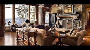 Lodge Living Room Decor by Log Cabin Living Room Captivating Interior Design Ideas