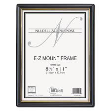 Parchment Paper Office Depot Ez Mount Document Frame With Trim Accent By Nudell Nud11880