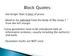 Block quotes in double spaced paper essay Indenting Block Quotes   Ways in Word       Windows