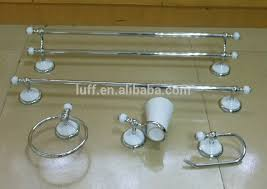 White Bathroom Accessories Set by Wallmounted White And Chrome Ceramic Bathroom Accessories Set 5