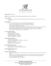 Example Server Resume by Restaurant Manager Duties For Resume Free Resume Example And