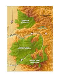 New Mexico County Map Map Of New Mexico U0027s Wheeler Peak Latir And Wilderness Areas And