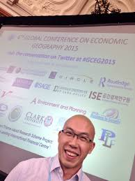 Many congratulations to Dr Aidan Wong who has been awarded the Economic Geography Research Group      PhD Prize for a thesis entitled  Economic Geography Research Group