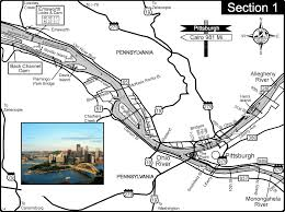 Map Of The Ohio River by Ohio River At Pittsburgh Pa At Confluence Of Allegheny And