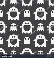 black and white halloween backgrounds scary funny ghost spirit seamless pattern stock vector 314487098