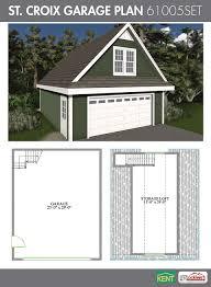 Garage And Shop Plans by St Croix Garage Plan 24 U0027 X 30 U0027 2 Car Garage 551 Sq Ft Bonus