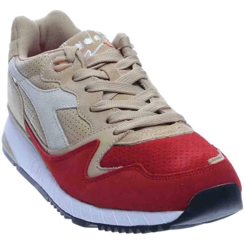 Diadora V7000 PREMIUM Running Shoes Grey;Orange- Mens