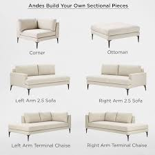 Build Your Own Sectional Sofa by Build Your Own Andes Sectional Pieces Living Rooms Room And