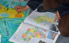 Physical Map Of Africa by Drawing A Physical Map Of Africa The Troutbeck