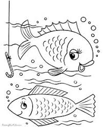 printable fish coloring pages 2 color fish