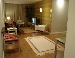 interior small retro style interior flat design featuring wooden