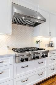 White Subway Tile Backsplash Ideas by 25 Best Herringbone Backsplash Ideas On Pinterest Small Marble