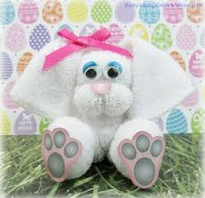 washcloth bunny easket basket filler baby shower favors