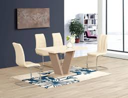 Dining Room Sets With Round Tables Cream Dining Room Set Olten Cream Dining Chair In Oak Finish Pack