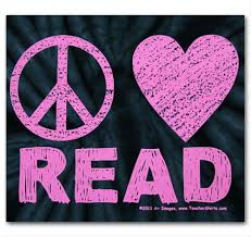Image result for peace love and read image