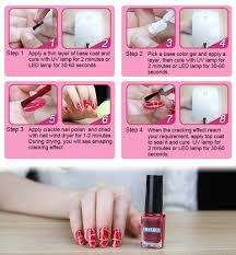 amazon com elite99 soak off uv led cracked nail polish long