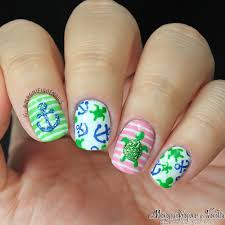 summer nails with turtles and anchors nails pinterest turtle