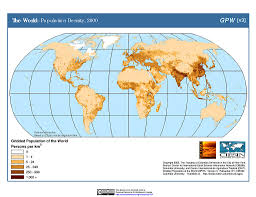 Diagram Of The World Map by Maps Gridded Population Of The World Gpw V3 Sedac