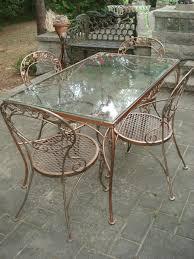 Cast Iron Patio Set Table Chairs Garden Furniture - wrought iron furniture wrought iron iron and salterini