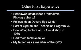 education survey united states ophthalmic photographers u0027 society