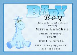 Baby Shower Invitation Cards Templates Baby Shower Invitations For A Boy Theruntime Com