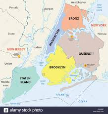 Map New York City by New York City 5 Boroughs Map Stock Vector Art U0026 Illustration