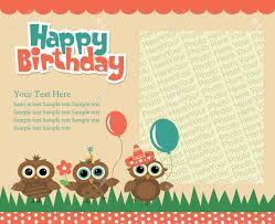 Invitation Card Designer Happy Birthday Invitation Card Design Vector Illustration Royalty