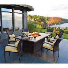 Wood Patio Furniture Sets - patio ideas fire in the middle of patio set with fire pit table
