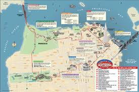 San Francisco Cable Car Map by San Francisco Hop On Hop Off Map Michigan Map